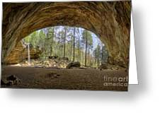 Ash Cave Waterfall Greeting Card