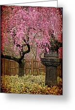 Asian Spring Greeting Card by Chris Lord