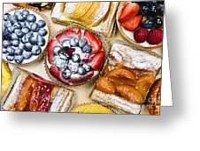 Assorted Tarts And Pastries Greeting Card
