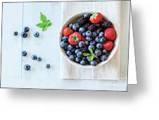Assortment Of Berries Greeting Card