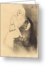 "At The Renaissance: Sarah Bernhardt In ""phedre"" (a La Renaissance: Sarah Bernhardt Dans ""ph?dre"") Greeting Card"