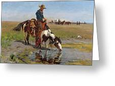 At The Watering Hole Greeting Card