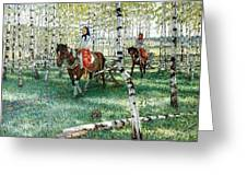 At Work Nikolai Petrovich Bogdanov-belsky Greeting Card