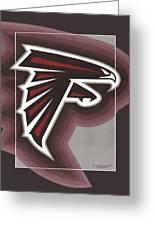 Atlanta Falcons Logo T-shirt Greeting Card