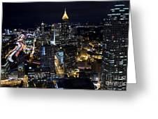 Atlanta Georgia - Evening Commute Greeting Card