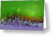 Atlanta Skyline 4 Greeting Card