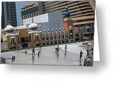 Atlantic City Hotels Board Walks Beaches Entertainment Centres Tajmahal Hotel Americas Best Photogra Greeting Card