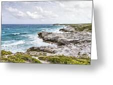 Atlantic Coastline In Bahamas Greeting Card