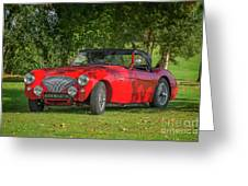 Austin Healey 100 Greeting Card