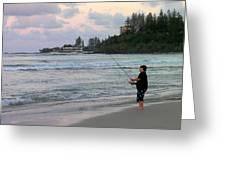 Australia - Fisherman At Greenmount Beach Greeting Card