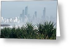 Australia - Surf Mist Shrouds Our View Greeting Card