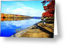 Autumn Afternoon On The Schuykill River Greeting Card