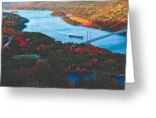 Autumn Along The Hudson Greeting Card