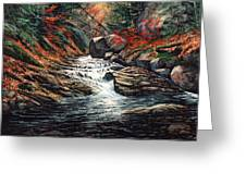 Autumn Brook Greeting Card