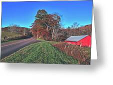 Autumn Countryside - North Carolina Greeting Card