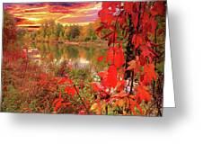 Autumn Garlands Greeting Card