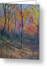 Autumn Hillside Greeting Card