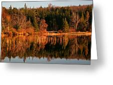 Autumn Lake Greeting Card by Kate  Leikin