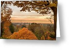 Autumn On The Hill Greeting Card