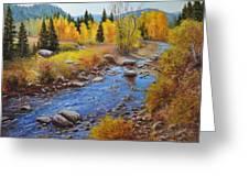 Autumn On The Truckee Greeting Card
