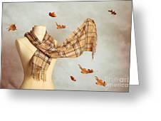 Autumn Scarf Greeting Card