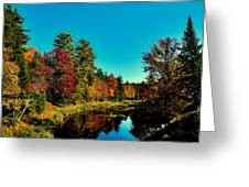 Autumn Splendor On The Moose River Greeting Card