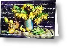 Autumn Sunflowers Greeting Card