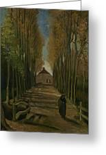 Avenue Of Poplars In Autumn Nuenen, October 1884 Vincent Van Gogh 1853 - 1890 Greeting Card