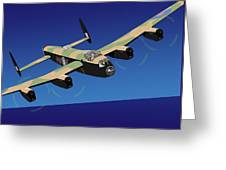 Avro Lancaster Bomber Greeting Card