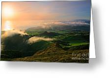 Azores Islands Landscape Greeting Card