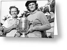 Patty Berg And Babe Didrikson Greeting Card