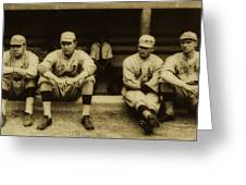 Babe Ruth On Far Left With The Boston Red Sox 1915 Greeting Card