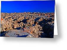 Badlands At Sunset Greeting Card