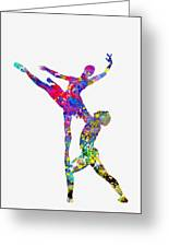 Ballet Dancer-colorful Greeting Card