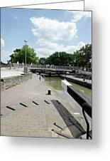 Bancroft Basin - Canal Lock Greeting Card