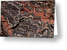Banded Gneiss Rock Greeting Card