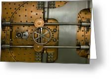 Bank Vault Door Exterior Greeting Card
