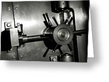 Bank Vault Greeting Card