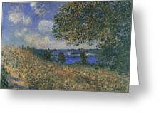 Banks Of The Seine Greeting Card
