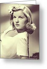 Barbara Bel Geddes, Vintage Actress Greeting Card