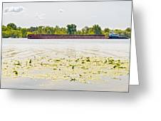 Barge On The Dnieper River Greeting Card