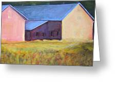 Barn Across The Road Greeting Card