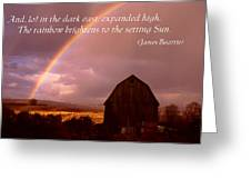 Barn And Rainbow Poster Greeting Card