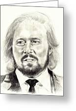 Barry Gibb Portrait Greeting Card
