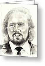 Barry Gibb Portrait Greeting Card