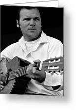 Barry Sadler With Guitar 3 Tucson Arizona 1971 Greeting Card