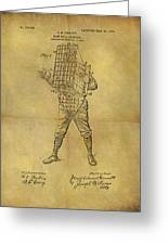 Baseball Catcher's Mask Patent Greeting Card