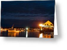 Bass Harbor At Night Greeting Card