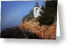 Bass Harbor Lighthouse, Acadia National Park Greeting Card