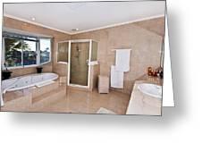 Bathroom And Spa Bath Greeting Card